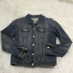 Gap distressed denim jacket medium